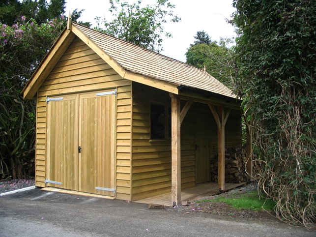 Wood store and garage