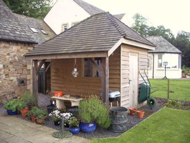 Pre built garden shed