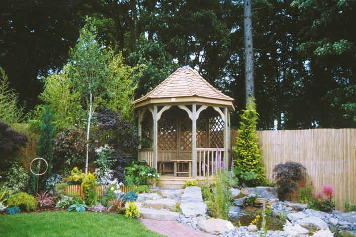 Beautiful garden gazebo