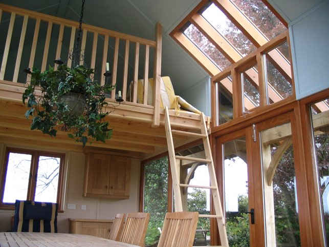 Solid wood garden room