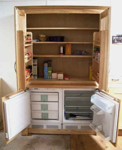 Kitchen Cupboard and Fridge