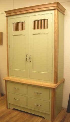 Green Kitchen Cupboard