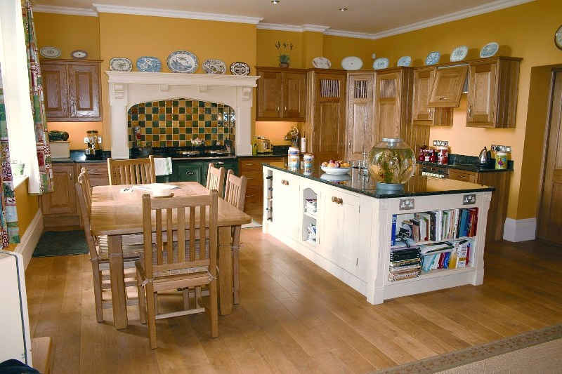 Solid wood kitchen island