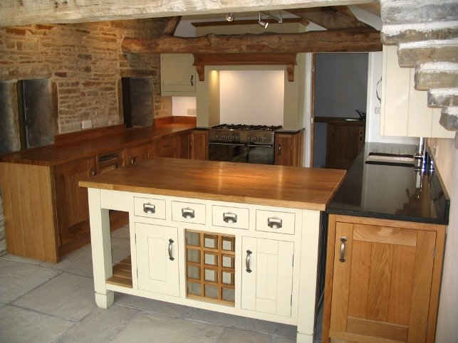 Solid wood kitchen counter island