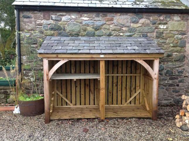 Log store made in Carlisle Cumbria