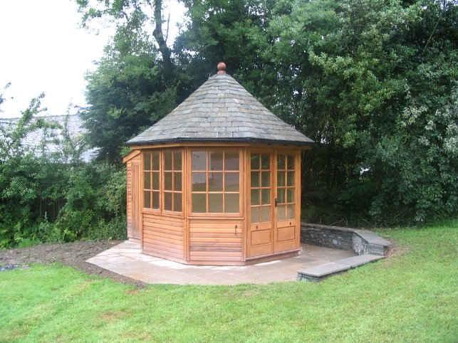 Solid wood garden summerhouse